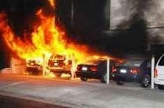 دُبئی : قیمتی گاڑیاں جلانے والے پاکستانی نوجوان کو قید ہو گئی