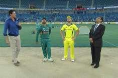 دوسرا ٹی ٹونٹی : پاکستان کا آسٹریلیا کیخلاف ٹاس جیت کر پہلے بیٹنگ کا ..