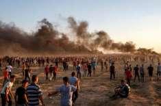غزہ کی سرحد پر اسرائیلی فوج کی فائرنگ سے فلسطینی نوجوان شہید