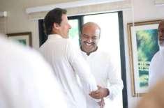 ندیم افضل چن انتخابات میں شکست کے بعد خورشید شاہ سے ملاقات کرنے پہنچ ..