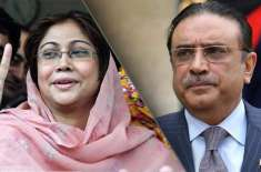 آصف علی زرداری اور فریال تالپور کو 8اپریل کو عدالت میں طلب کر لیا گیا