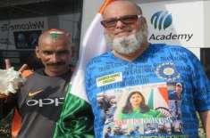 دُبئی: بھارتی ٹیم کے پُرجوش سپورٹر سُدھیر گوتم کو پاکستانی جہاز کی ..