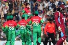 بنگلہ دیش اور ویسٹ انڈیز کی ٹیمیں تیسرے اور آخری ون ڈے انٹرنیشنل کرکٹ ..