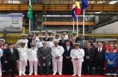 پاک بحریہ کے لئے آف شور پٹرول ویسل۔ II کی سٹیل کٹنگ کی تقریب کا ڈامن ..