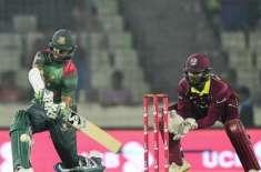 بنگلہ دیش اور ویسٹ انڈیز کی ٹیموں کے درمیان تیسرے اور آخری ون ڈے انٹرنیشنل ..