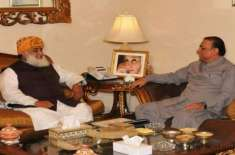 Asif zardari meets fazal ur rehamn today in islamabad