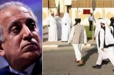 امریکی ایلچی زلمے خلیل زاد کی ملاقات، طالبان نے تصدیق کر دی