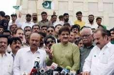 پیپلزپارٹی سندھ کے صدر نثار کھوڑواور دیگرعہدیدداروں کی مراد علی شاہ ..