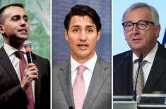 اٹلی یورپی یونین اور کینیڈا کی فری ٹریڈ ڈیل کی توثیق نہیں کرے گا
