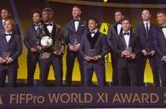 فیفا پرو ورلڈ الیون کے لیے 55 فٹبالرز شارٹ لسٹ
