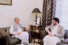 وزیراعلیٰ خیبرپختونخوا نے پشاور زلمی کے سربراہ جاوید آفریدی اور ٹیم ..