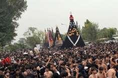 یوم عاشور ،کالعدم قرار دی گئی تنظیموں کے ارکان کی سر گرمیوں کی خصوصی ..