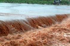 بھارت کا سیلابی پانی کے ساتھ نالہ ڈیک کے پشتوں کو تباہ کرنے کا منصوبہ ..