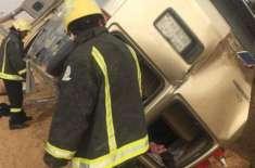 سعودی عرب: اساتذہ کو لے جانے والی منی وین کو خوفناک حادثہ