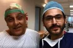 اداکار ساجد حسن کے ہیئرٹرانسپلانٹ کی وجہ سے زخمی سر کی سرجری کردی گئی
