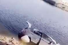 جدہ: ایک اور خاتون کی گاڑی جھیل میں جا گِری