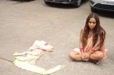 ممبئی ،خواتین کے استحصال پر احتجاج، پولیس نے بھارتی اداکارہ سری ریڈی ..