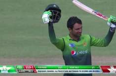 fakhar zaman took least number of matches to get to double ton in ODI,s