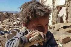 یمنی بچّے کی تصویر نے انسانی حقوق کونسل میں حوثیوں کو رٴْسوا کر دیا