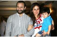 سیف علی خان اور کرینہ کپور خان بیٹے تیمور کی دوسری سالگرہ کے لئے جنوبی ..