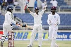 ویسٹ انڈیز نے بھارت کے خلاف پہلے ٹیسٹ کی پہلی اننگز میں 7 وکٹوں کے نقصان ..