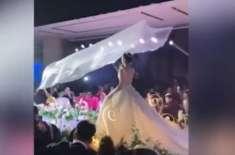 چینی شادیوں میں نیا جنون۔ اڑتا ہوا نقاب