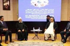 سپیکر قومی اسمبلی اسد قیصر کی سپیکرز کانفرنس کے موقع پر ایرانی صدر ..