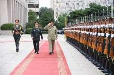 آرمی چیف اورچینی کمانڈرکی ملاقات، سکیورٹی صورتحال پرتبادلہ خیال