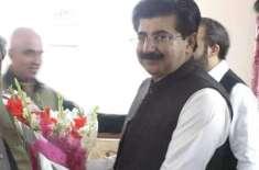 چیئرمین سینیٹ محمد صادق سنجرانی وفد کے ہمراہ باکو پہنچ گئے،