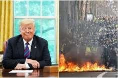 فرانس میں 'ہمیں ٹرمپ چاہیے' کے نعرے لگ رہے ہیں، امریکی صدر کا مضحکہ ..
