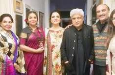 معروف بھارتی اداکار جاوید اختر اور شبانہ عظمیٰ لاہور پہنچ گئے
