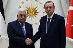 ترک صدر اردوان کی فلسطینی ہم منصب محمود عباس سے ٹیلی فونک مذاکرات
