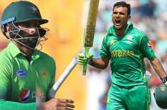 fakhar zaman and mohammad hafeez to open in first t 20