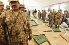 Pakistan army takes control of security before election