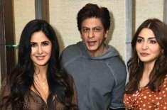 شاہ رخ خان، کترینہ کیف اور انوشکا شرما نے ریلیز ہونے والی فلم 'زیرو' ..