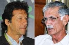 عمران خان اور پرویز خٹک کو الیکشن تک لہجہ نرم رکھنے کی ہدایت