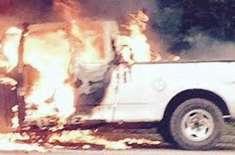 دُبئی میں مقیم بھارتی نوجوان نے ہم وطن کے ٹرک کو آگ لگا کر راکھ بنا دیا