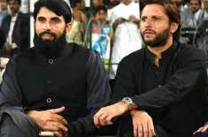 Shahid Afridi also came out in support of Misbah-ul-Haq