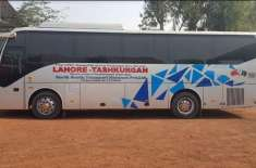 پاکستان اور چین کے درمیان بس سروس نے اپنا پہلا سفر مکمل کر لیا