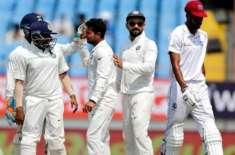 بھارت اور ویسٹ انڈیز کی کرکٹ ٹیموں کے درمیان دوسرا اور آخری ٹیسٹ میچ ..
