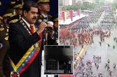 وینزویلا کے صدر نکولس میڈورو پر ڈرون کے ذریعے قاتلانہ حملہ ناکام،سات ..