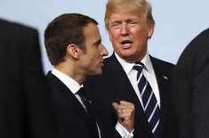 احتجاجی مظاہرے اندرونی معاملہ،ٹرمپ مداخلت نہ کریں،فرانسیسی صدرکا ..