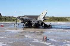 بیلجیئم کے فضائی اڈے پر کھڑے ایف 16 کی دوسرے طیاروں پر فائرنگ،دوزخمی