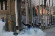 مقبوضہ کشمیر میں حریت کانفرنس کے احتجاجی مارچ پر قابض فوج کی شیلنگ