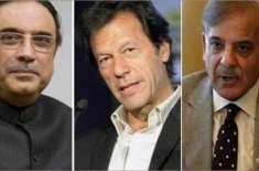 عمران خان، آصف زرداری اور شہبازشریف نے انتہائی قریب رہتے ہوئے ایک ..