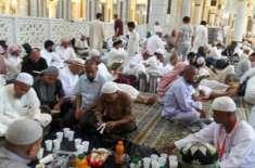 مسجدالحرام اور مسجد نبوی میں آج سے اعتکاف شروع