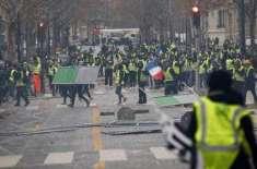 فرانس غیرمحفوظ،پرتشدداحتجاجی مظاہرے،سیاحتی مقامات بند کردیئے گئے
