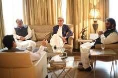 پرویز الہیٰ اور جہانگیر ترین کی ملاقات میں حمزہ شہباز کا تذکرہ