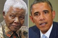 باراک اوباما کل نیلسن منڈیلا کے اعزاز میں ہونے والی تقریب میں شرکت ..
