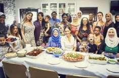 میگھن مارکل کا مسلم خواتین کے ساتھ مل کر کھانا،کھانوں کی ترکیبوں سے ..